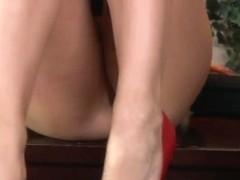 Big titty office slut Chanel Preston in red shoes gets shagged