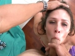 Anastasia Morna riding on a large wang