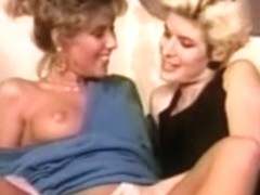 Retro MILF lesbians enjoy hot sex for the first time