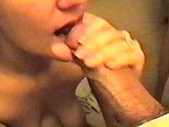 Mature wife takes a good cumming in her mouth in our homemade vid