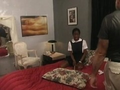 Flogging her black orgasmic and nasty snatch