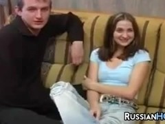 Russian Teen In A Threesome