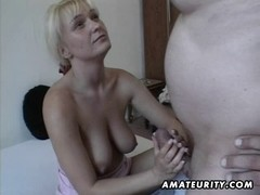 Breasty non-professional Mother I'd Like To Fuck toys and sucks with facial spunk flow