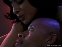 Tasty Ebony Hookers Share Throbbing Cock