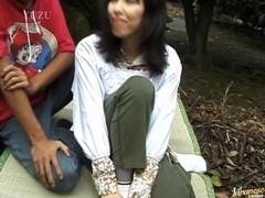 Fucking in the park - naughty mature Tomoko Uehara in outdoor 69
