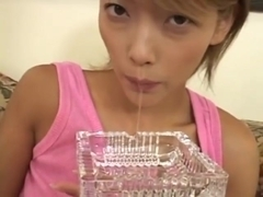 Smoking and spitting Japanese girl 1