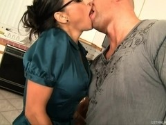 Tasty Salad Tossed By Brunette Milf
