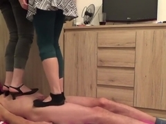 under the shoes of two cruel ladies - part1 - trampling - cbt trample