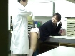 Naughty doc fucks a nurse in kinky Japanese sex video