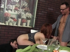 Incredible pornstars in Crazy Big Tits, Redhead adult movie