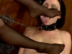 Hottest lesbian, fetish adult clip with exotic pornstars Aiden Starr and Veruca James from Footworship