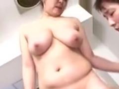 Obese Japanese MILFs Suzuka Arinaga and Yuki Sakurai drilled