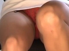 Office gal stocking upskirt
