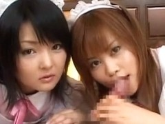 Fabulous Japanese slut Miku Hoshino, Hitomi Yoshino in Incredible Maid/Meido, POV JAV movie