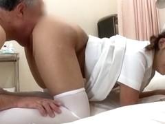 Crazy Japanese slut Maria Ono in Fabulous Stockings/Pansuto, Nurse/Naasu JAV clip
