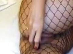 In my fishnet outfit