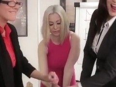 Brit dominas in office jerk