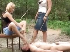 Under-Feet Video: Irina & Amanda