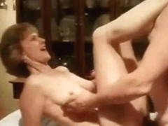 Mature woman drilled in missionary on the table