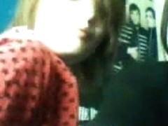 Young emo couple recorded themselves having a nice fuck