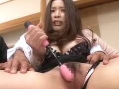Amazing Japanese girl Risa Kasumi in Crazy Stockings, Wife JAV movie