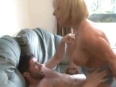 British mother I'd like to fuck Jane Bond receives screwed on the bed