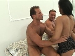 Doxy acquires double penetration with 2 giant dicks