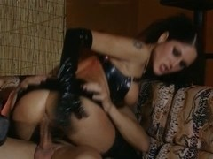Sarah getting a facial in two dicks one ass porn video