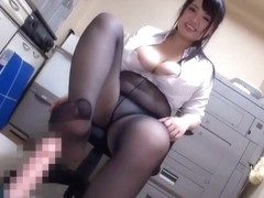 japanese pantyhose footjob 9