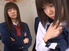 Anri Nonaka and Kurumi crazy Asian schoolgirls have sex