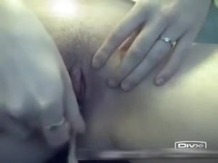 Drilling my slit hard with a dildo