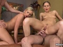James Brossman, Lindsey Olsen, Choky Ice, Sabrina Meor in Sexual retreat Scene