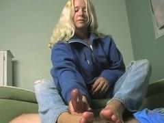 Loads of Cum for Julie's Feet