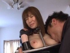 Yuma Asami hot milf in a sexy costume enjoys bondage as slave