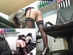 Sexy Office Goth Chic Toys On Cam