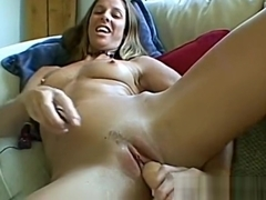 Skinny wife masturbates then gives me a handjob