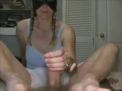 Masked MILF jerked my penis off