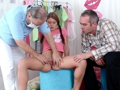 SpoiledVirgins - Russian girl has her sexy virgin pussy checked by doctor and spoiled by older man