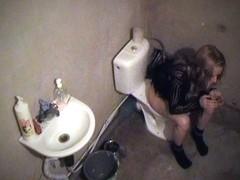 Pissing on hidden camera
