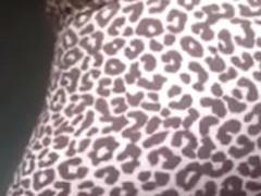 Tight ass jiggle in leopard leggins