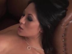 Big tittied blondie Antonya is caressing pussy