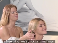 Amazing pornstars Izzy Delphine, Chrissy Fox in Incredible Lesbian, Redhead adult clip