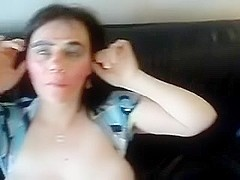 Submissive mature fucked in the face