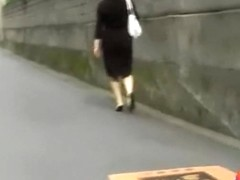 Sharking with no panties while going for a walk after work