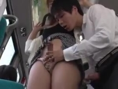 Ladyboy makes a man cum in train
