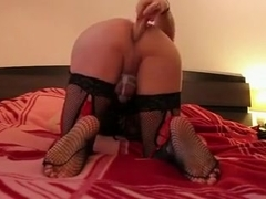 Incredible homemade shemale movie with Solo, Dildos/Toys scenes