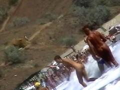 Real nudist beach through the lens on a spy cam