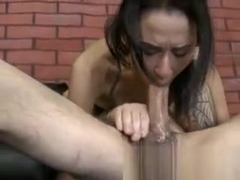 Latina extreme mouth fucking by jerk