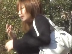 Elegant charming Japanese bitch gets nicely intercepted by handy sharking guy