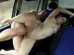 Chunky in a car
